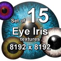 Eye Iris 15x Textures