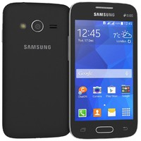 samsung galaxy v black 3d model