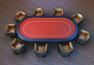 3d poker table chairs