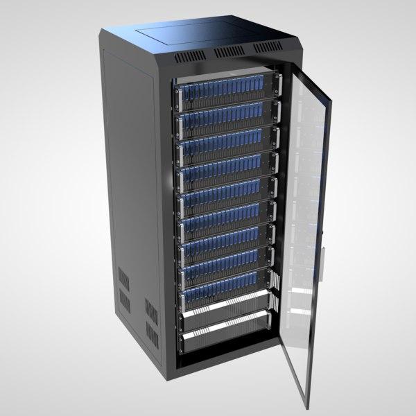 server rack 3d c4d