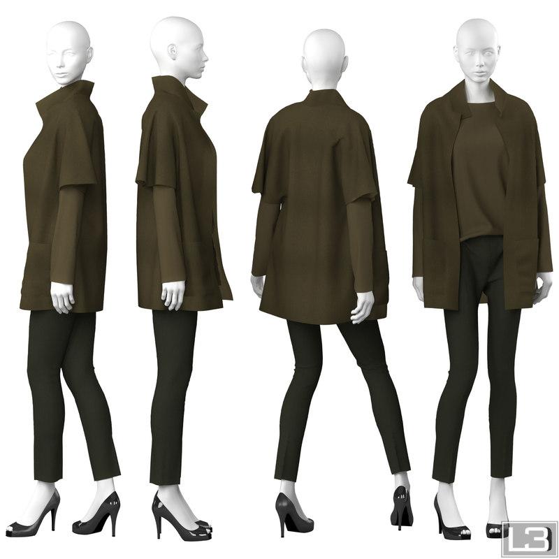 3d woman mannequin