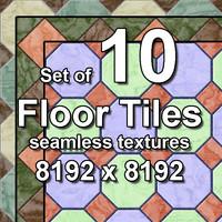 Floor Tiles 10x Seamless Textures