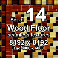 Wood Floor 14x Seamless Textures, set #2