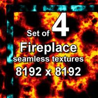 Fireplace 4x Seamless Textures