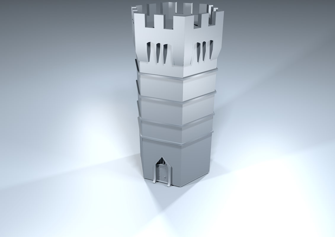 3ds max medieval tower