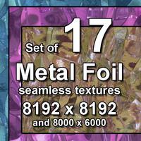 Metal Foil 17x Seamless Textures