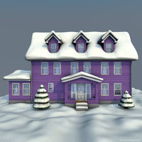 house winter c4d