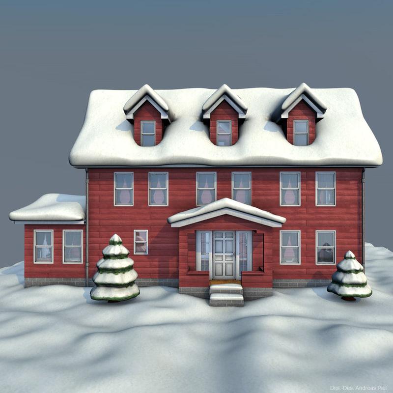 house winter 3d model