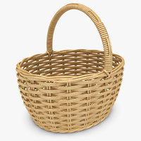 3ds max realistic wicker basket honey