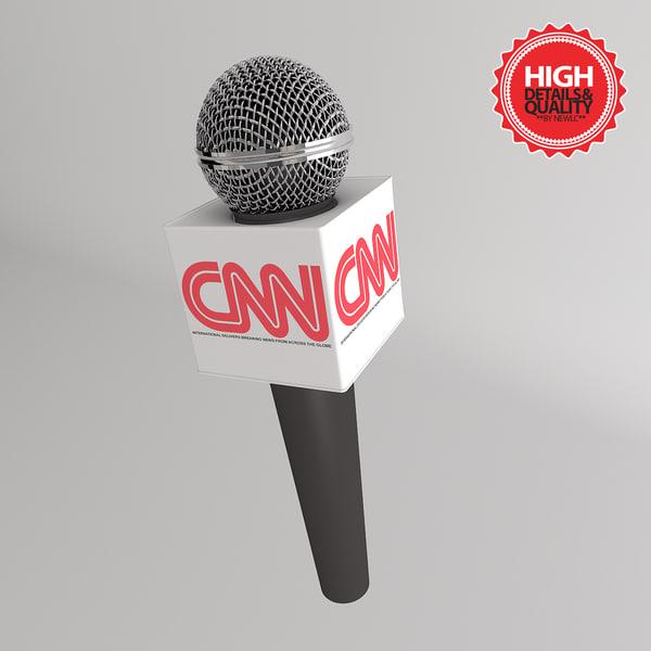 tv microphone advertising box 3d model
