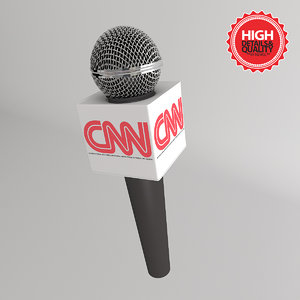 tv microphone advertising box 3d model