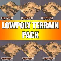 3d terrain pack model