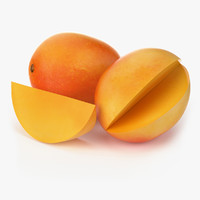 realistic mango fruit real 3d obj