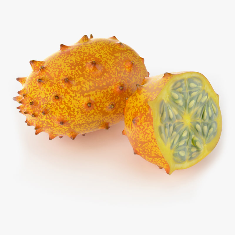 3d model realistic kivano fruit real