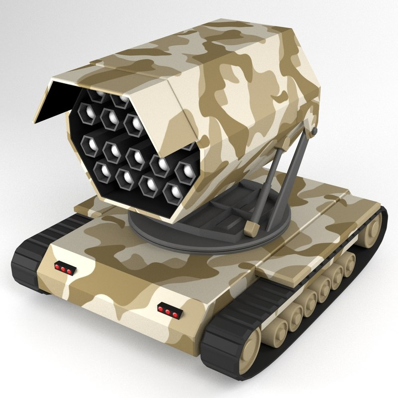 3d rocket launcher tracked vehicle
