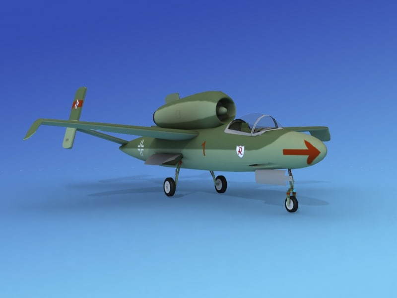 fighter jets heinkel 162 3d dwg