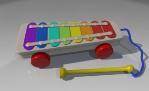 c4d xylophone kids toy