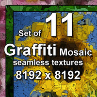 Graffiti Mosaic Images 11x Textures