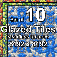 Glazed Tiles 10x Seamless Textures, set #1