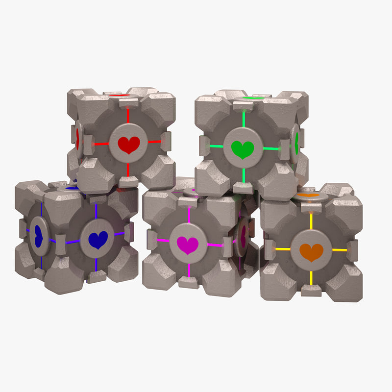 portal cube 3d max