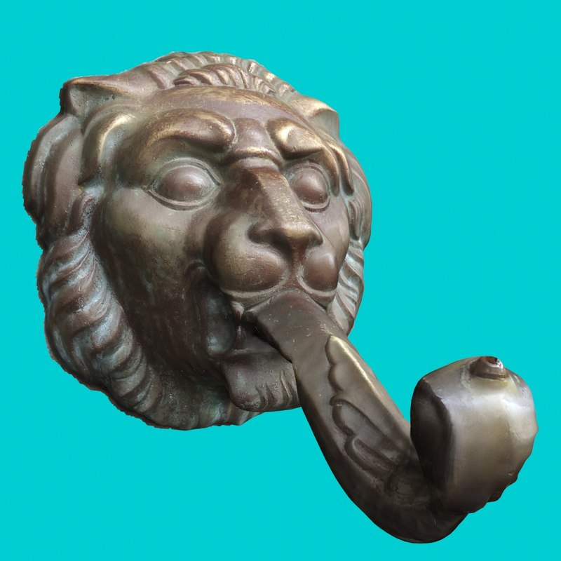 3ds sculpture faucet - lion