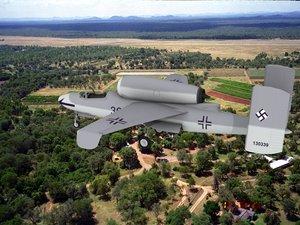 3d model of fighter jets heinkel 162