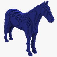 Voxel Horse Obj