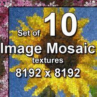 Image Glass Mosaic 10x Textures