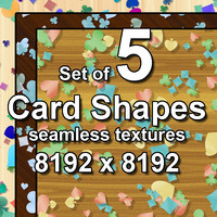 Card Shapes 5x Seamless Textures