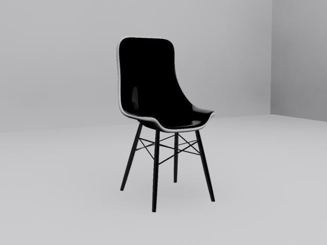 eames white plastic chair 3d max