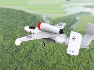 fighter jets heinkel 162 3d model