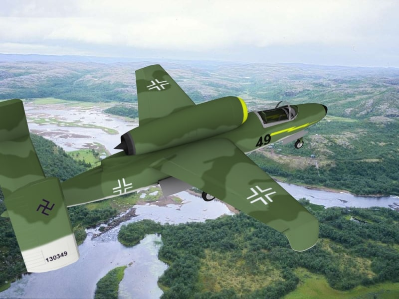 3d model fighter jets heinkel 162