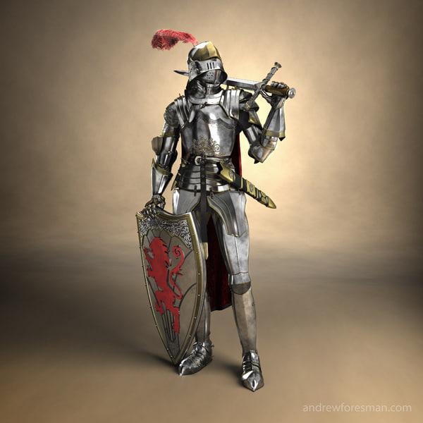 armor suit 3d model