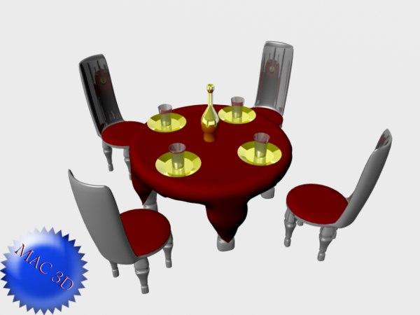 chair table obj