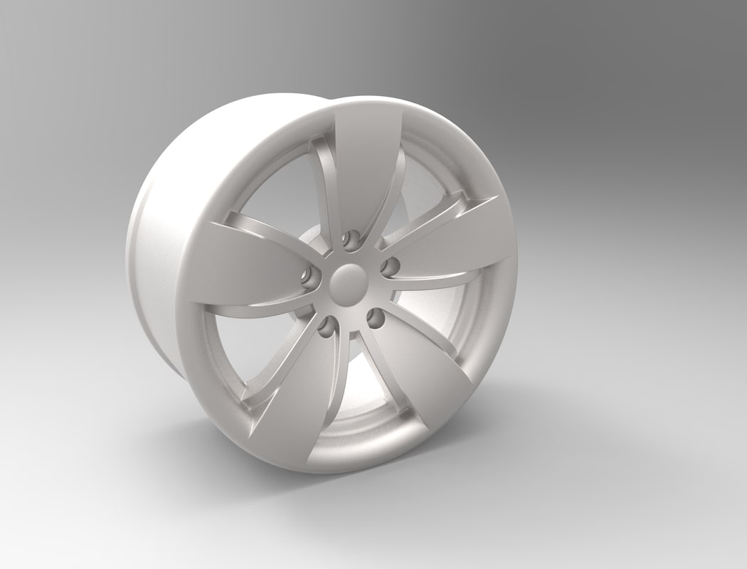 3d model alloy wheel b-50 print