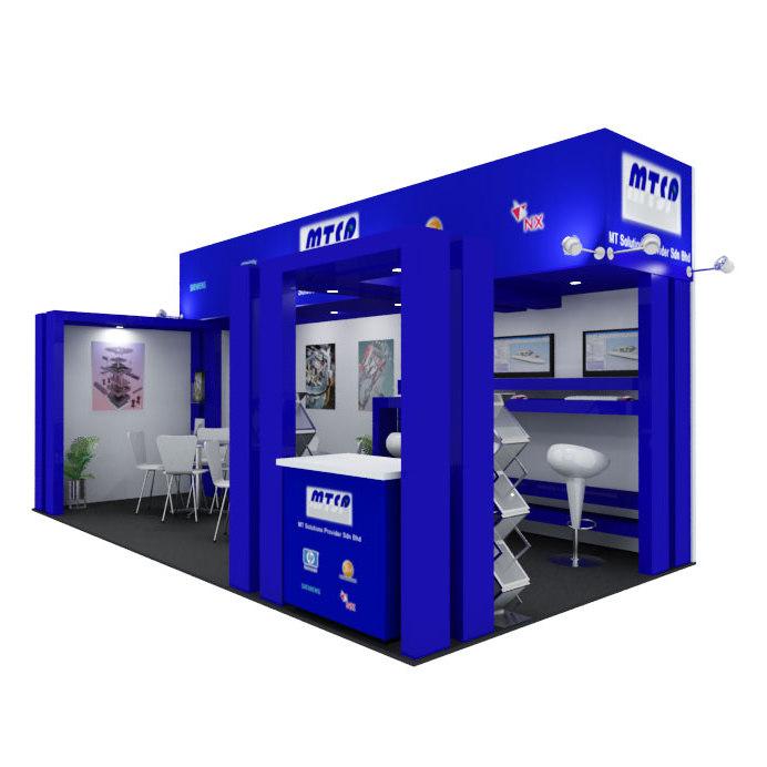 exhibit booth 3d max