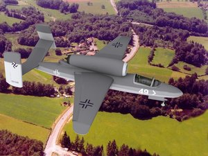 fighter jets heinkel 162 obj