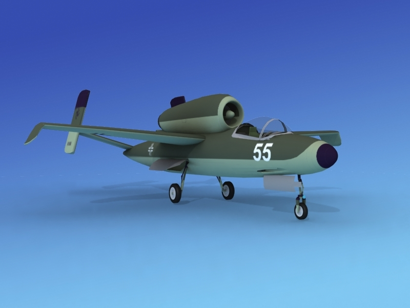 3d fighter jets heinkel 162 model