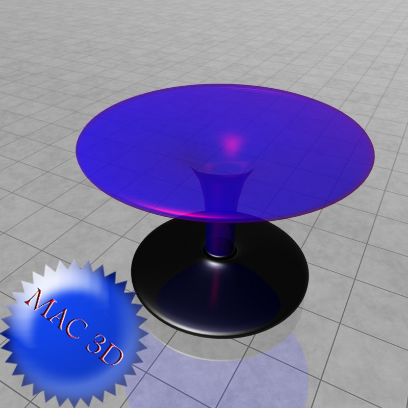 concept glass table 3d obj