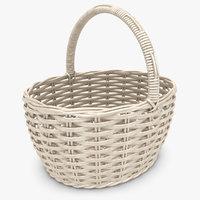 realistic wicker basket white 3d max