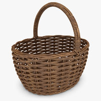Wicker Basket (Resin Brown)