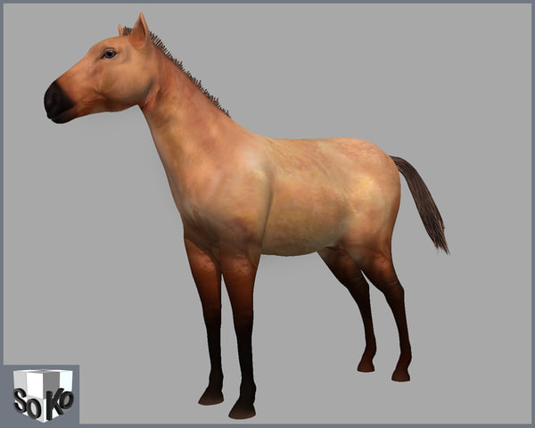3d model horse lightwave