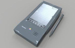 3d model apple newton