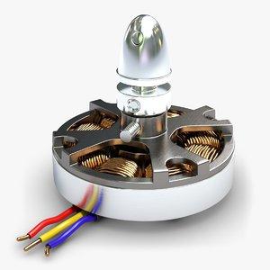3dsmax brushless dc electric motor
