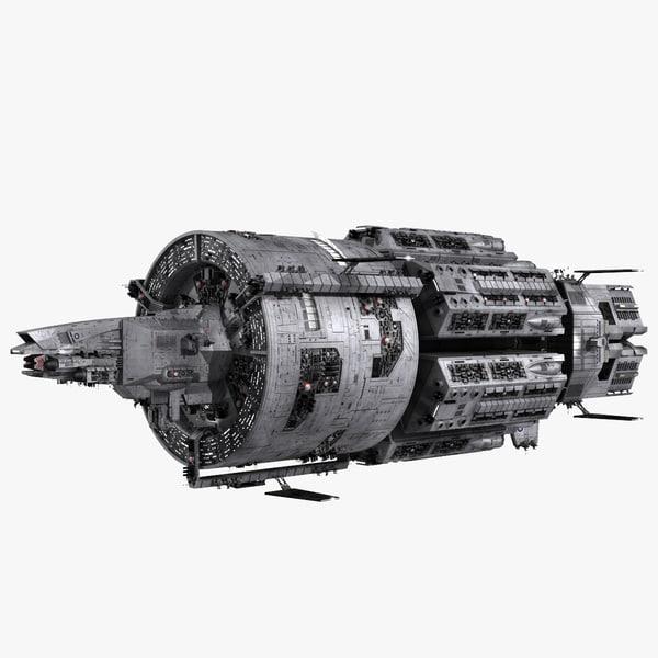 3d realistic interstellar space cruiser