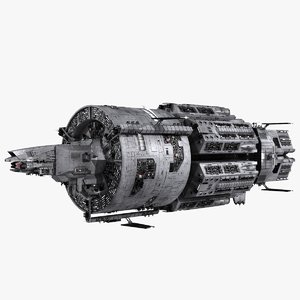 3d realistic interstellar space cruiser