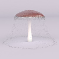Pool mushroom fountain
