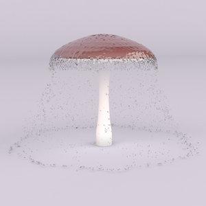 3d max mushroom swimming pools