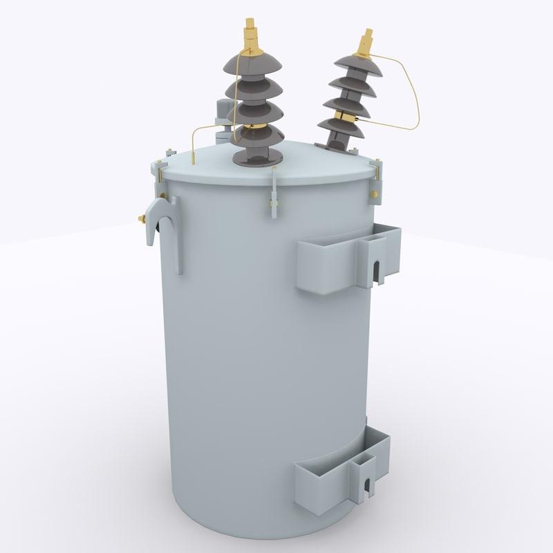 3dsmax oil transformer