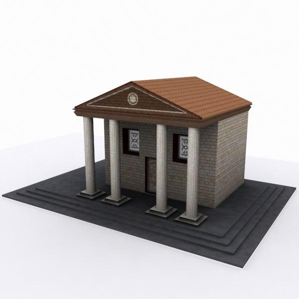 museum house 3d model